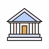 Постер, плакат: Bank Office Icon