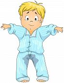 stock photo of wet pants  - Illustration of a Kid Who Wet His Pajamas - JPG