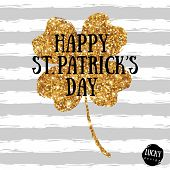 Happy St. Patricks Day design template. poster