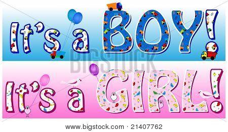 Boy Girl Announcement