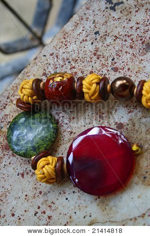 Colorful beads, accesories and jewellery
