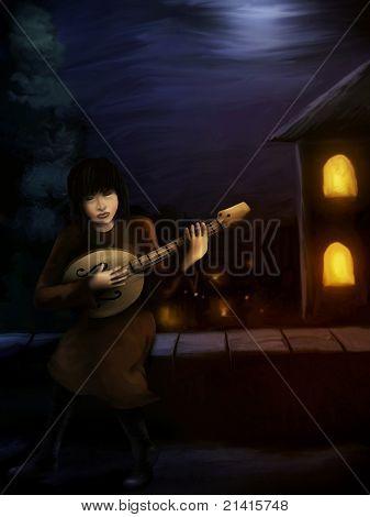Medieval Guitar Player