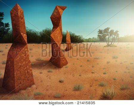 polygonal termite mounds