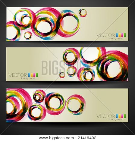 stylish vector set of three headers
