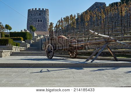 Ancient cart and