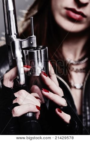 Girl With A Revolver