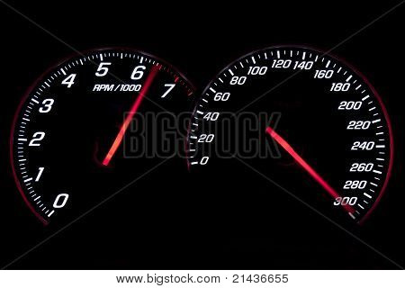 Speedometer And Rev-counter Reaching The Limit