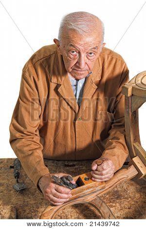 fine portrait of aged craftman