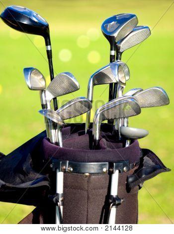 Golf Clubs In A Bag