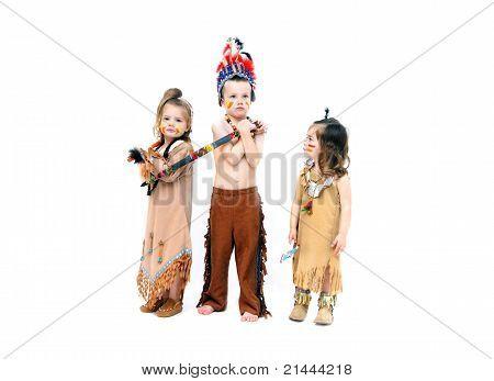 Liebenswert kostümierten Indianer