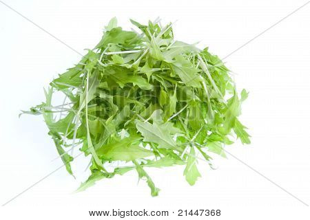Mizuna Leaves