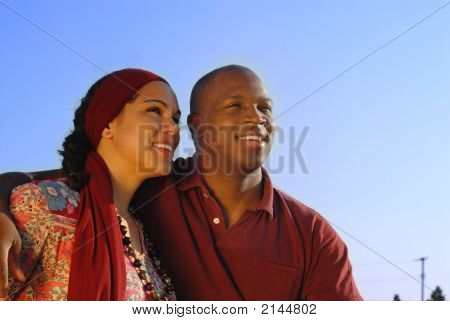 Couple Looking Forward