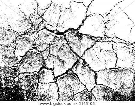 Cracked Grunge Texture.Eps