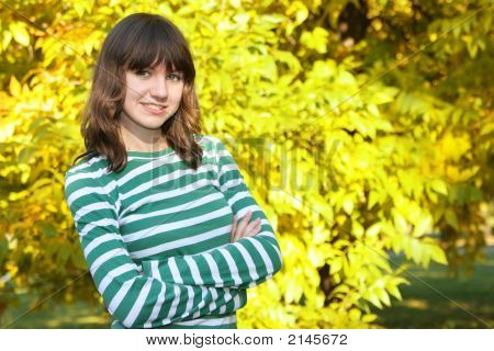 Teen Girl In The Park