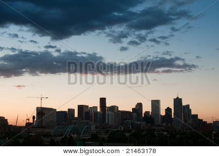 Mile High City Of Denver By Night