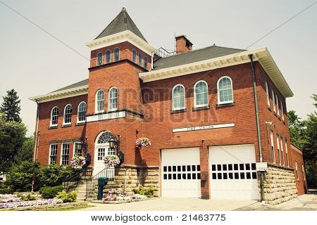 Historic Hall And Fire Station In Independence