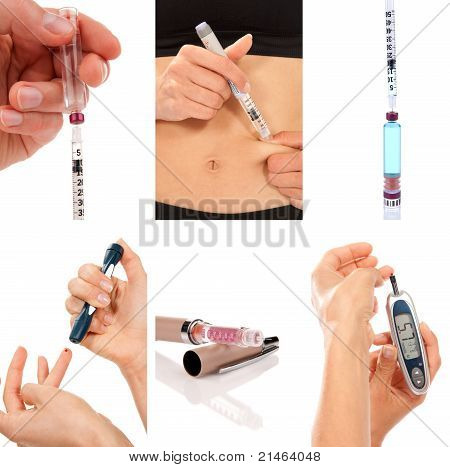 Diabetes Diabetic Concept Collage Insulin
