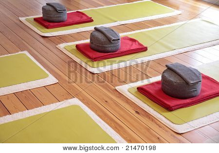 Yoga Mats And Yoga Cushion