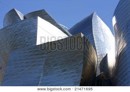 Detail des Guggenheim Museums, Baskenland, Spanien