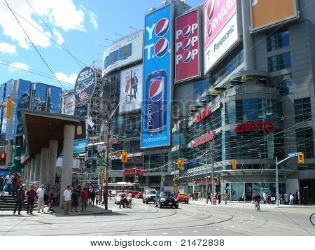 Times Square Of Toronto, Canada