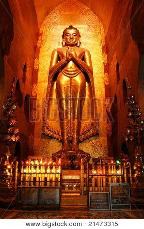 Buddha in ancient temple (Bagan, Myanmar)