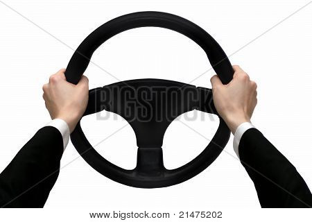 Hands on the steering wheel