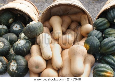Squash For Sale At Farmers Market