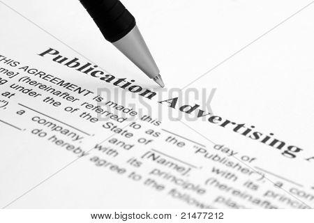 Publication Advertising Agreement