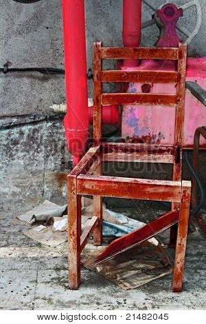 Old grungy looking chair
