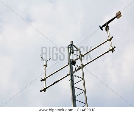 Anemometer On Weather Station Antenna