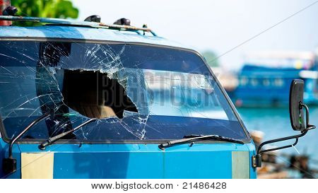 Broken Windscreen