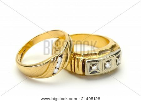 Two Male (mens) Wedding Rings