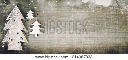 poster of Rustic wood background for Christmas with copy space for all Christmas design. Old wood texture deco