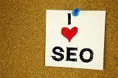 Conceptual Hand Writing Text Caption Inspiration Showing Seo Search Engine Optimization. Business Co poster