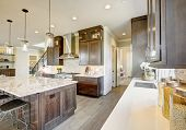 Luxury Kitchen In A New Construction Home poster