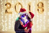 Couple Celebrating Christmas poster