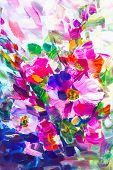 Oil Painting, Impressionism Style, Flower Painting, Still Painting Canvas, poster