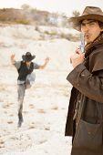 duel between cowboys. affair of honor poster