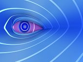 Futuristic Eye Abstract Background Concept
