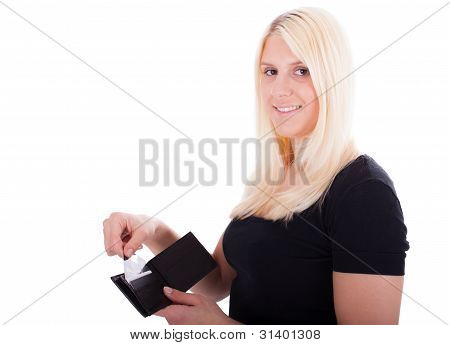 A Young Woman With Credit Card