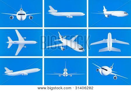 Airplane collage