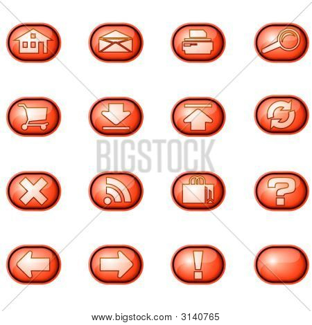 Web Icons A, Red
