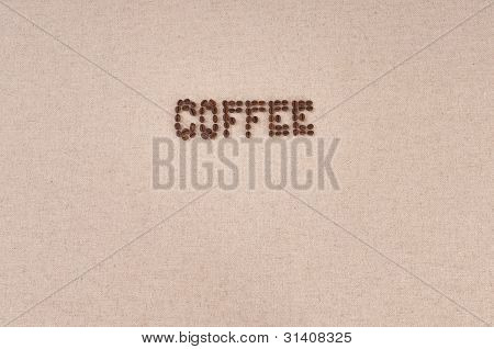 Menu Background: Coffee Beans On Canvas