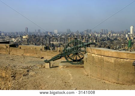 Cannon In Citadel In Cairo Egypt
