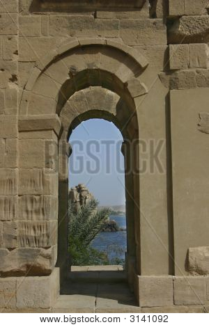 Arch Looking On To The Nile