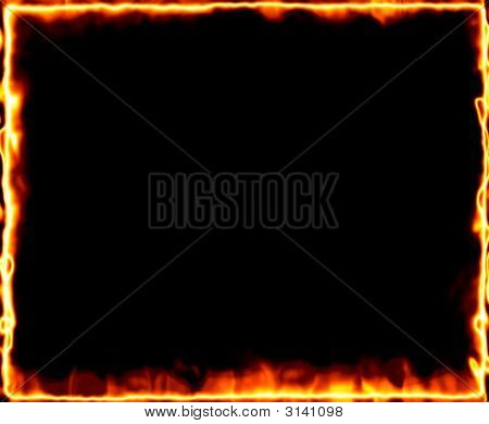 Fire Burning Frame