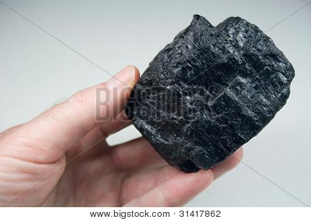 Lump of Coal in Hand