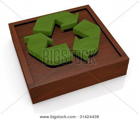 Símbolo da reciclagem como um brinquedo