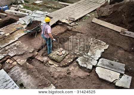 Archeologist In Rome
