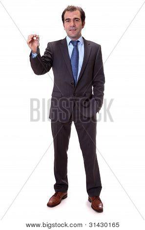 Man showing keys in hand